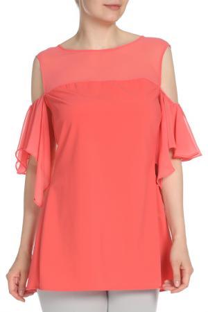 Блузка Fiorella Rubino. Цвет: бордовый
