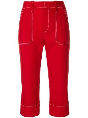 Укороченные брюки с высокой талией Chloé. Цвет: красный