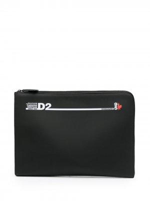 Чехол для ноутбука с логотипом Dsquared2. Цвет: черный