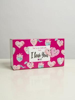 Подарочная упаковка пенал Сердца Mark Formelle. Цвет: разноцветный