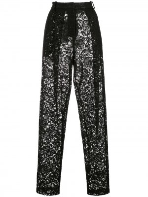 Зауженные кружевные брюки Magda Butrym. Цвет: черный