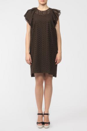 Платье Isabel Marant. Цвет: шоколадный