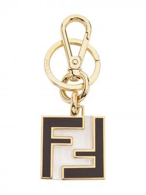 Брелок с логотипом FF Fendi. Цвет: золотистый