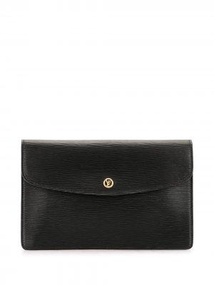 Клатч Montaigne 27 1990-го года Louis Vuitton. Цвет: черный