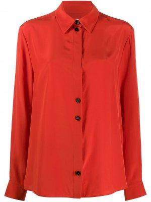 Рубашка на пуговицах с длинными рукавами Jil Sander. Цвет: красный
