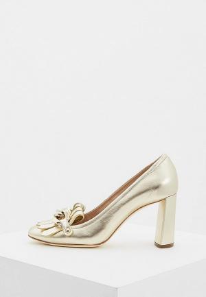 Туфли Casadei. Цвет: золотой