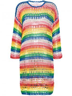 Вязаное платье в полоску Mira Mikati. Цвет: разноцветный
