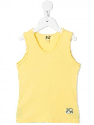 Топ с логотипом Bonton. Цвет: желтый