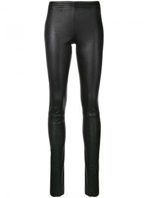 Leather leggings Drome. Цвет: черный
