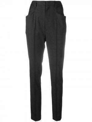 Зауженные брюки в клетку Isabel Marant Étoile. Цвет: серый