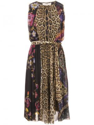 Расклешенное платье Fuzzi. Цвет: черный