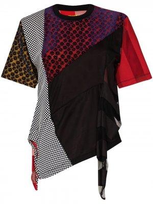 MarquesAlmeida футболка reM'Ade в технике пэчворк Marques'Almeida. Цвет: черный