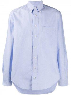 Рубашка оксфорд на пуговицах Gitman Vintage. Цвет: синий
