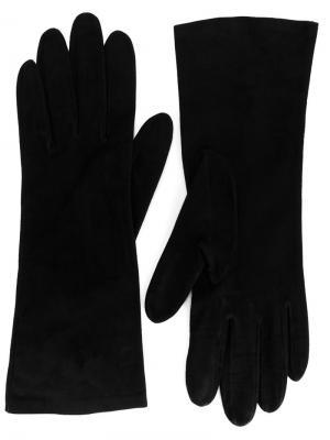 Классические перчатки Christian Dior. Цвет: черный