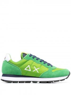 Кроссовки с вышитым логотипом Sun 68. Цвет: зеленый