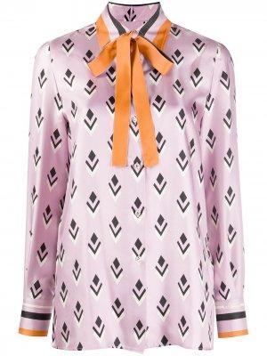 Рубашка Remake с логотипом Valentino. Цвет: фиолетовый