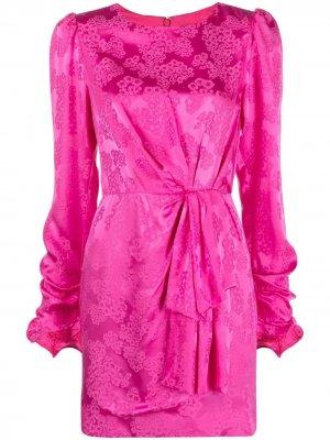 Платье с цветочным принтом Saloni. Цвет: розовый
