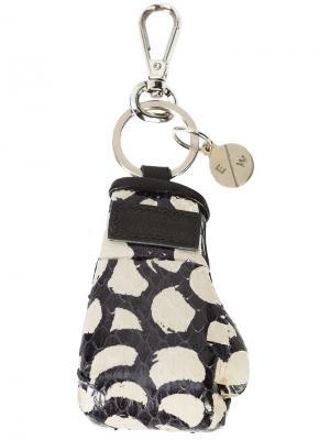 Брелок с боксерской перчаткой Mini Manila Elisabeth Weinstock. Цвет: черный