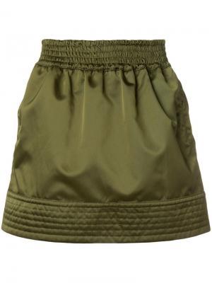 Спортивная юбка с отблеском Nº21. Цвет: зеленый
