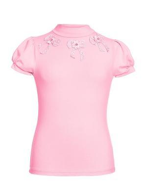 Водолазка с коротким рукавом для младшей школы Arina. Цвет: розовый