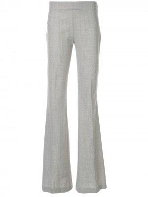 Расклешенные брюки Giambattista Valli. Цвет: серый