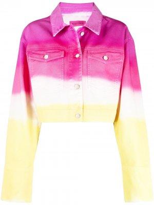 Крашеная джинсовая куртка IRENEISGOOD. Цвет: розовый