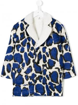 Leopard print coat Noé & Zoe. Цвет: синий