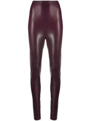 Легинсы с завышенной талией Saint Laurent. Цвет: фиолетовый