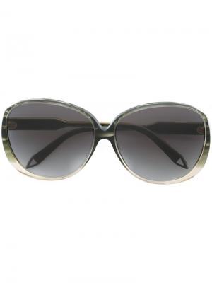 Солнцезащитные очки Victoria Beckham. Цвет: зеленый