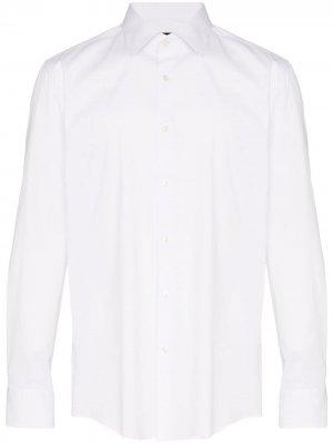 Рубашка на пуговицах BOSS. Цвет: белый