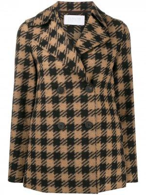 Двубортный пиджак в клетку Harris Wharf London. Цвет: нейтральные цвета