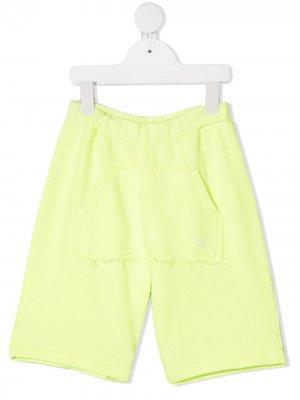 Спортивные шорты широкого кроя Douuod Kids. Цвет: желтый