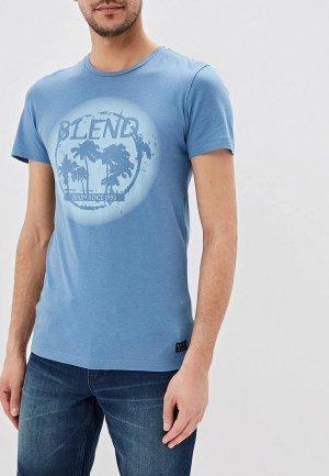 Футболка Blend. Цвет: голубой