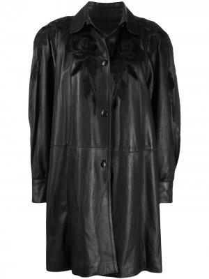 Куртка оверсайз 1980-х годов с цветочной вышивкой A.N.G.E.L.O. Vintage Cult. Цвет: черный