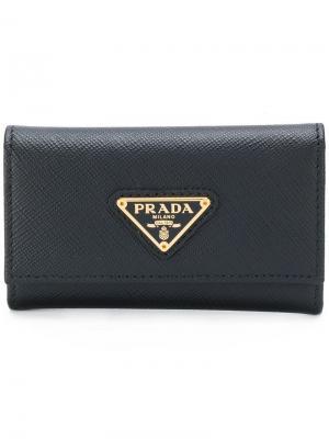 Кошелек-ключница Prada. Цвет: черный