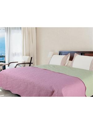 Покрывало Amore Mio Multi 2,0 сп.Euro розовый/зеленый. Цвет: розовый, зеленый