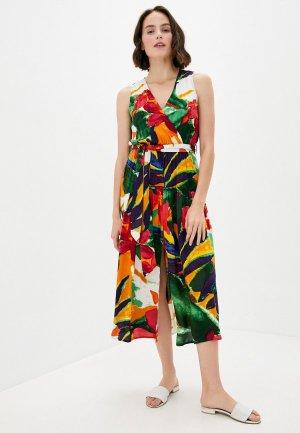 Платье пляжное Code. Цвет: разноцветный
