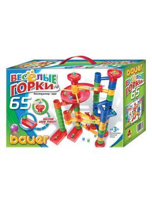 Игровой набор Весёлые горки  65 эл. (в коробке) 16/16 Bauer. Цвет: зеленый