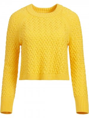 Фактурный пуловер Leta Alice+Olivia. Цвет: желтый