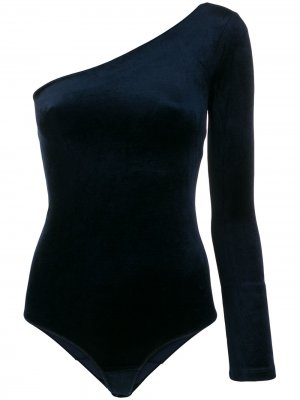 One shoulder bodie Forte. Цвет: синий