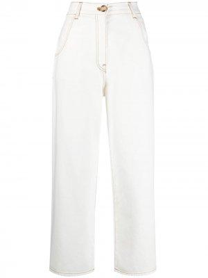 LAutre Chose укороченные брюки прямого кроя L'Autre. Цвет: белый