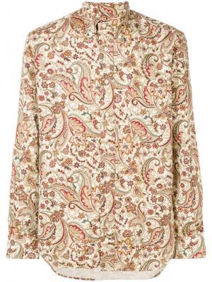 Рубашка с узором пейсли Gitman Vintage. Цвет: нейтральные цвета