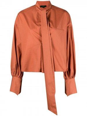 Рубашка Maria Jejia. Цвет: оранжевый