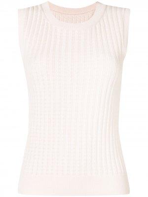 Джемпер без рукавов в рубчик Carolina Herrera. Цвет: розовый