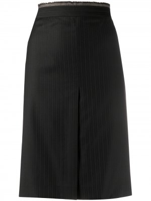 Полосатая юбка-карандаш 2000-х годов Gianfranco Ferré Pre-Owned. Цвет: dark голубой
