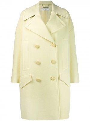 Пальто свободного кроя Givenchy. Цвет: желтый