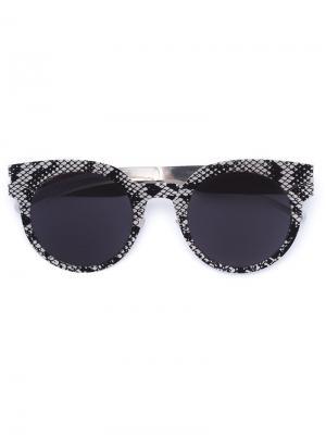 Солнцезащитные очки с круглой оправой Mykita. Цвет: золотистый