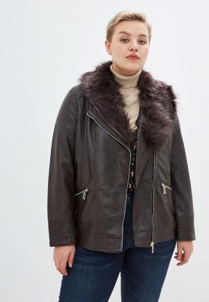 Куртка кожаная Evans. Цвет: коричневый