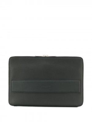 Фактурная сумка для ноутбука Bottega Veneta. Цвет: черный