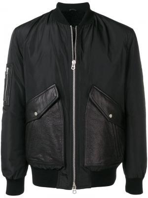 Куртка-бомбер на молнии Drome. Цвет: черный